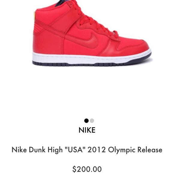 523ef635a38b Nike Dunk high Team USA 2012 Olympics. M 5a438274a4c485371e0898e8